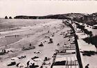 HENDAYE 128 frontière franco-espagnole la plage et les deux jumeaux timbrée 1954