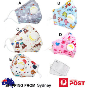 Mask for Kids Washable Reusable PM2.5 Filters Anti Dust Pollution In Sydney