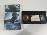 ENEMIGO PUBLICO CINTA TAPE VHS COLECCIONISTA EDIC ESPAÑOLA WILL SMITH HACKMAN