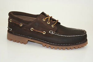 Timberland Classic 3-Eye Lug Boat Shoes Men Lace Up Moccasins A15XX