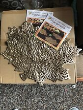 "Benson Mills Metallic GOLD Harvest Leaf Placemats  16.75"" x 17.25"" Pressed Vinyl"