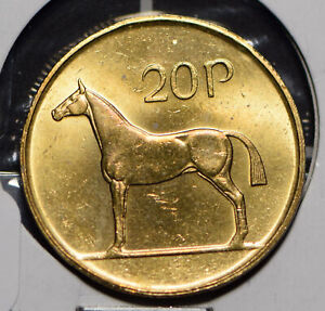 Ireland 1986 20 Pence Horse animal  191199 combine shipping