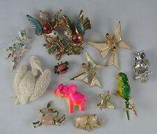 LOT - 12 Vintage Figural Animal Brooch Pins