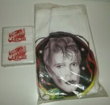 David Bowie Wristbands Wrist Band Tour Concert Vintage T Tee Shirt 80s 1981