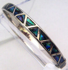 PAUA Shell abalone Nature's 1 Bangle Bracelet Wheeler Mfg. bgb 017 Triangles NEW