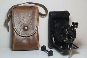Kodak Vest Pocket Model B 127 folding camera & case - Tested & working