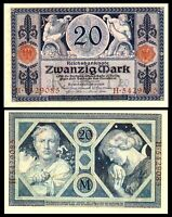 Germany Early Banknote 20 Mark 1915 P63 UNC