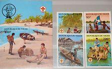 NIGER 1982 796-99 Block 37 586-590 Scouting Year Boy Scouts Pfadfinder MNH
