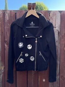 Disney Parks Nightmare Before Christmas Jack Skellington Moto Jacket Size M