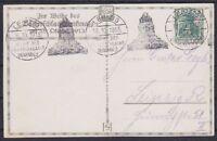 DR Mi Nr 85 EF auf toller AK Leipzig Festbeleuchtung mit MAS Völkerschlacht 1913