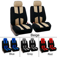 4PCS Universal Car Front Seat Covers Full Set Protector Cushion Case For 4Season