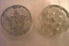 """2 Clear Glass 2.8"""" Clear Flower Frog 11 Holes"""