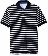 Nautica Mens Classic Fit Short Sleeve Striped Polo Shirt  Sz Small NWT
