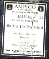 """AMPICO """"ME AND THE BOY FRIEND"""" Lopez 205391-E Reproducing Player Piano Roll"""