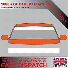 GLOSS WHITE WINDSCREEN SUNSTRIP 2000mm x 190mm VAN DECALS GRAPHICS STICKERS