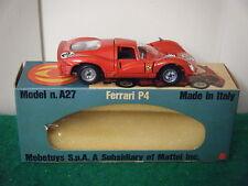 """Mebetoys No: A27 """"Ferrari P4 Racing Car"""" - Red (Original 1960's/Boxed)"""