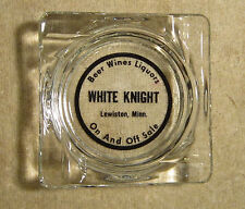 White Knight Lewiston Minnesota Glass Ashtray Beer Wine Liquours
