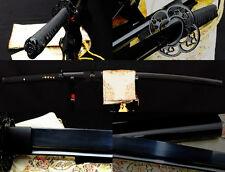 """41"""" hIgh quality japanese samurai katana sword black folded steel full tang blad"""