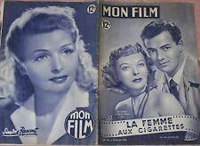 RIVISTA MON FILM N°181 1950 IDA LUPINO E CORNEL WIDE-LA FEMME AUX CIGARETTE 8/16
