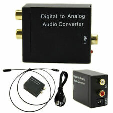 Digital Optical Coax to Analog RCA L/R Audio AUX Converter Adapter Fiber Cable