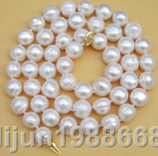 Real Classic AAA+++ 12-13mm South Sea White Baroque Pearl Necklace 20 INCH 14K
