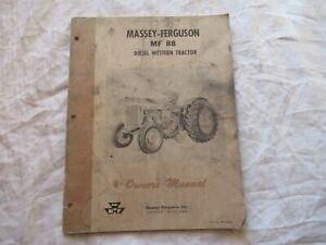 Massey Ferguson MF88 MF 88 tractor operator's manual