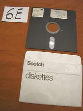Floppy disc 5.25 inch 5 1/4 Commodore 64 Scotch 3M scritta dati archivio n. 8