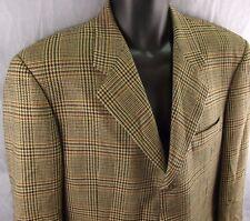 Hickey Freeman Boardroom Suit Coat 41R Plaid Sport Jacket Men's Wool Blazer