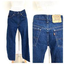 Vintage VTG 70s Dark Wash Orange Tab Jeans Denim