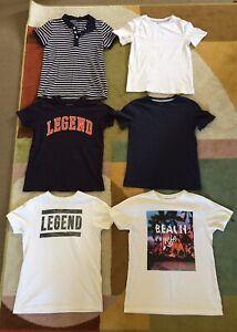 Boys Bundle Of T-shirts Age 8-10 Years H&M Nutmeg & Primark