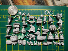 Lot of 30+ Super Tiny Miniature Baby Shower Wedding Objects for Crafts Jewelry