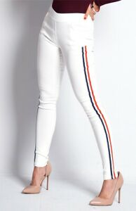 Ladies 'Holala' Quality Slim Fit Trousers with Stripe Detail On the legs BNWT