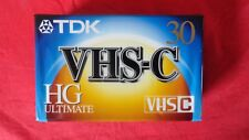 TDK VHS-C TC-30HG Ultimate Camcorder Compact Video Cassette TAPE