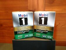 """2 NEW Mobil 1 EXTENDED PERFORMANCE OIL FILTERS WITH """"O"""" RINGS"""