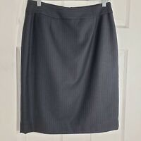 CALVIN KLEIN Size 10 Charcoal Gray Lined Straight Pencil Skirt Career Womens