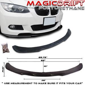 For 05-10 BMW E90/E92 POLY URETHANE UNDER FRONT BUMPER LIP SPOILER SPLITTER