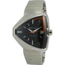 Hamilton Ventura Elvis80 Black Dial Stainless Steel Men's Watch H24551131