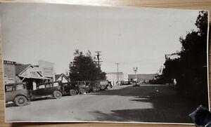Mexico Tijuana street with cars 1930s. original photo.