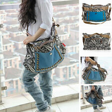 Women Exotic Canvas Shoulder Bag Crossbody Handbag Satchel Messenger Retro Bag