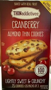 THIN Additives Cranberry Almond Thin Cookies 25 ct 20.3 oz
