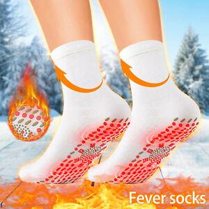 1Pair Fir Tourmaline Magnetic Socks Winter Keep Warm Self Heating Therapy Socks
