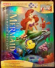 Disney The Little Mermaid Diamond Edition Blu-Ray/ Dvd Storybook Target Rara Oop