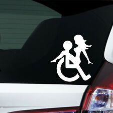 Auto Aufkleber Rollstuhl Sex fun dub Sticker