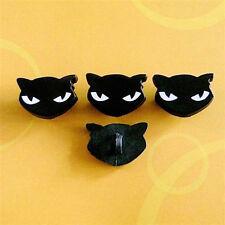 15 Black Cat Sabbath Kitty Novelty Decor Halloween Sew Buttons Scrapbooking K418
