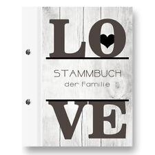 Stammbuch Love A5 schwarz Familienbuch Stammbuch Familie Standesamt Dokumente