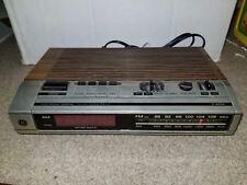 Vintage Ge Red Led Am Fm Alarm Clock Model 7-4634B Electronic Digital Tested
