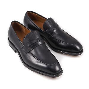 Salvatore Ferragamo Tramezza Black Leather Loafers 6 Wide NIB $1290 Shoes
