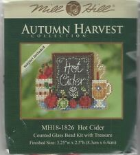 Hot Cider & Apples Counted Cross Stitch Glass Bead Mill Hill