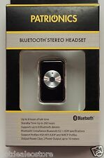 Patrionics Bluetooth Stereo Headset with up to 8 hrs talk time / 260 hrs standby