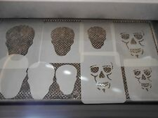 Airbrush Temporary Tattoo Stencils Skull Mask New Island Tribal!